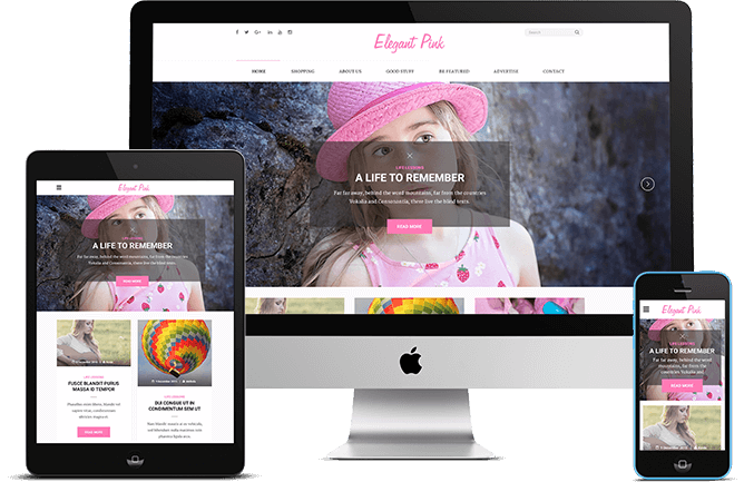 Elegant Pink: Feminine and Girly WordPress Blog Theme for Lifestyle Blog