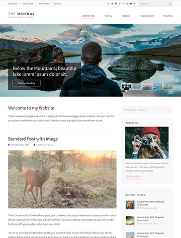 The Minimal Pro WordPress Theme