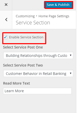 Service Sector Setting