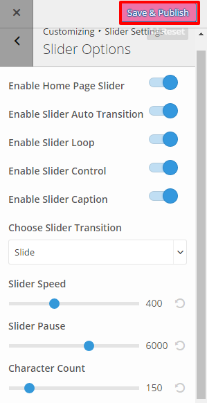 Slider Option