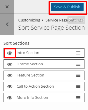 Sort Service Section