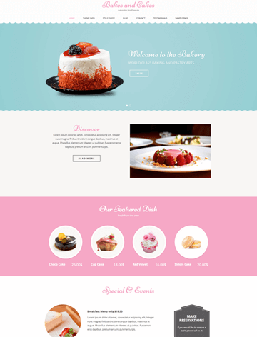 Bakes and Cakes Pro WordPress theme