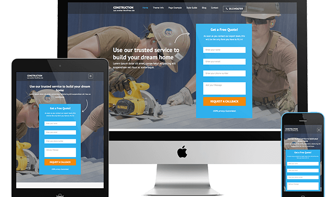 Construction Landing Page 1