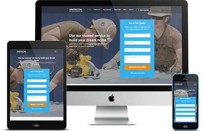 Free WordPress Theme for Construction Company: Construction ...
