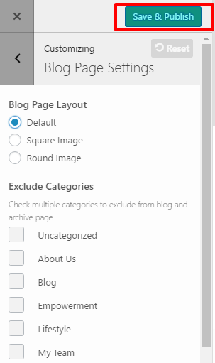 blog-page-settings