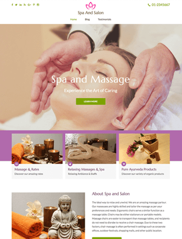 Spa and Salon Pro WordPress theme