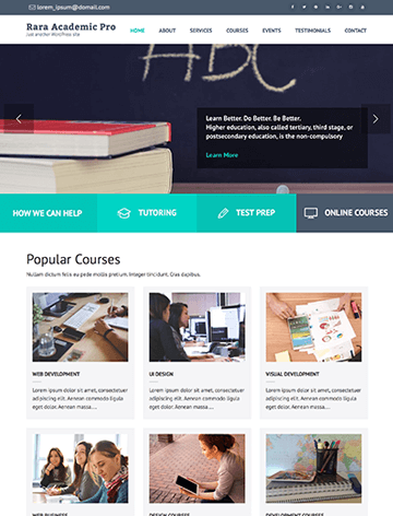Rara Academic Pro WordPress Theme