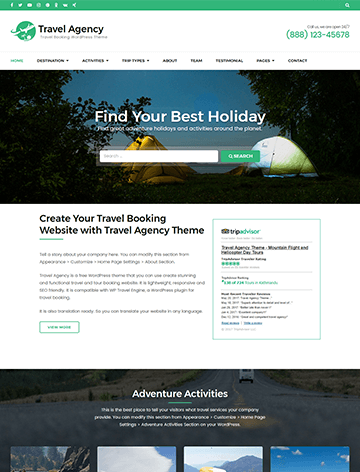 Travel Agency Pro WordPress Theme for Tour and Trips Booking 29093cfcfa0
