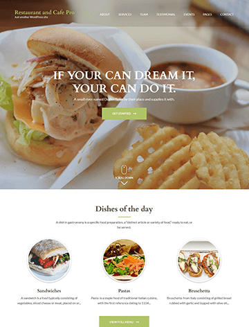 restaurant and cafe pro wordpress theme for online ordering