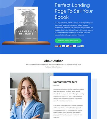 Book Landing Page Pro 8