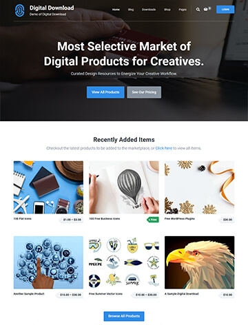 Digital Download WordPress Theme