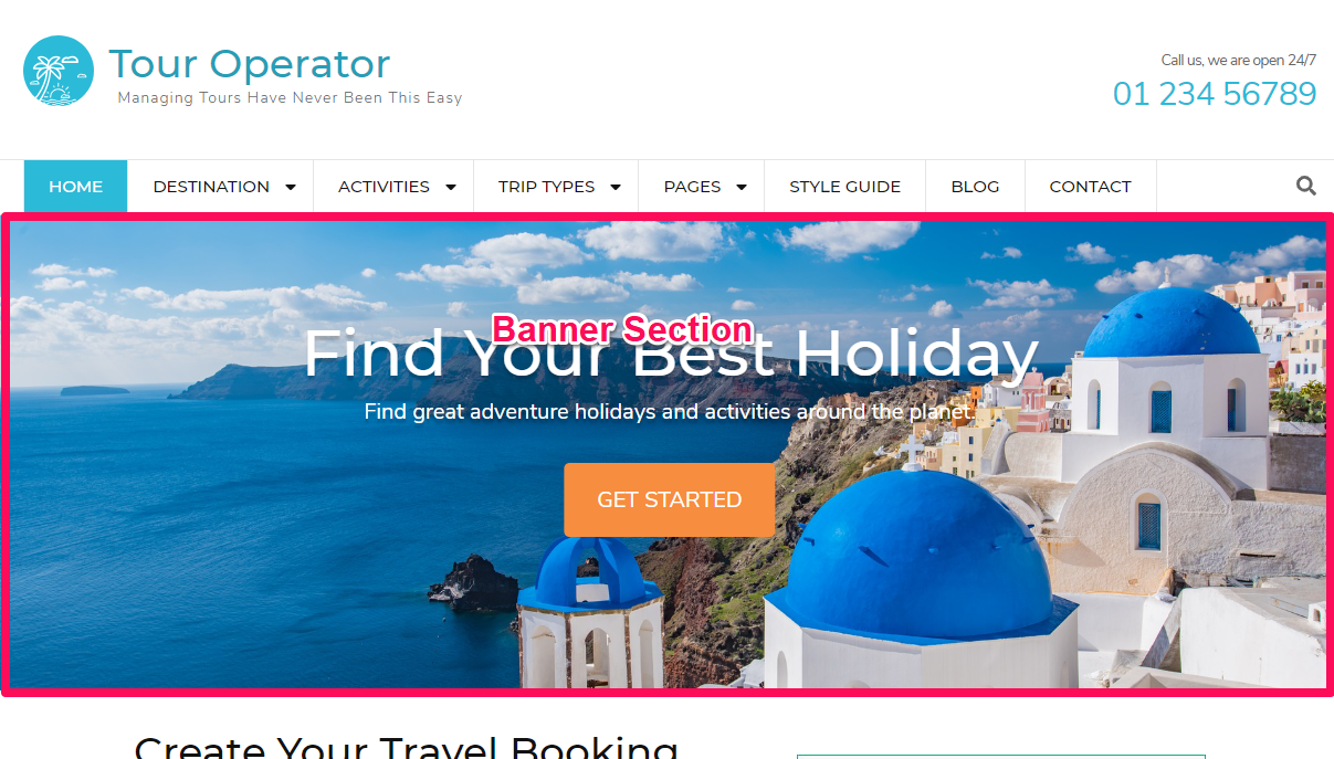 Tour Operator Free WordPress Theme Documentation 16