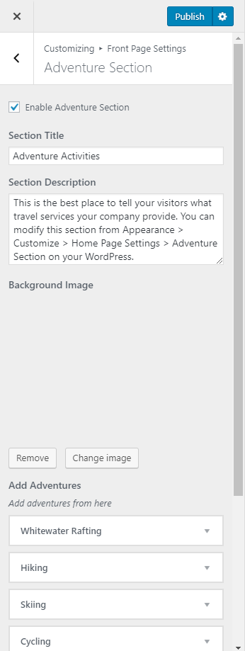 Tour Operator Free WordPress Theme Documentation 21