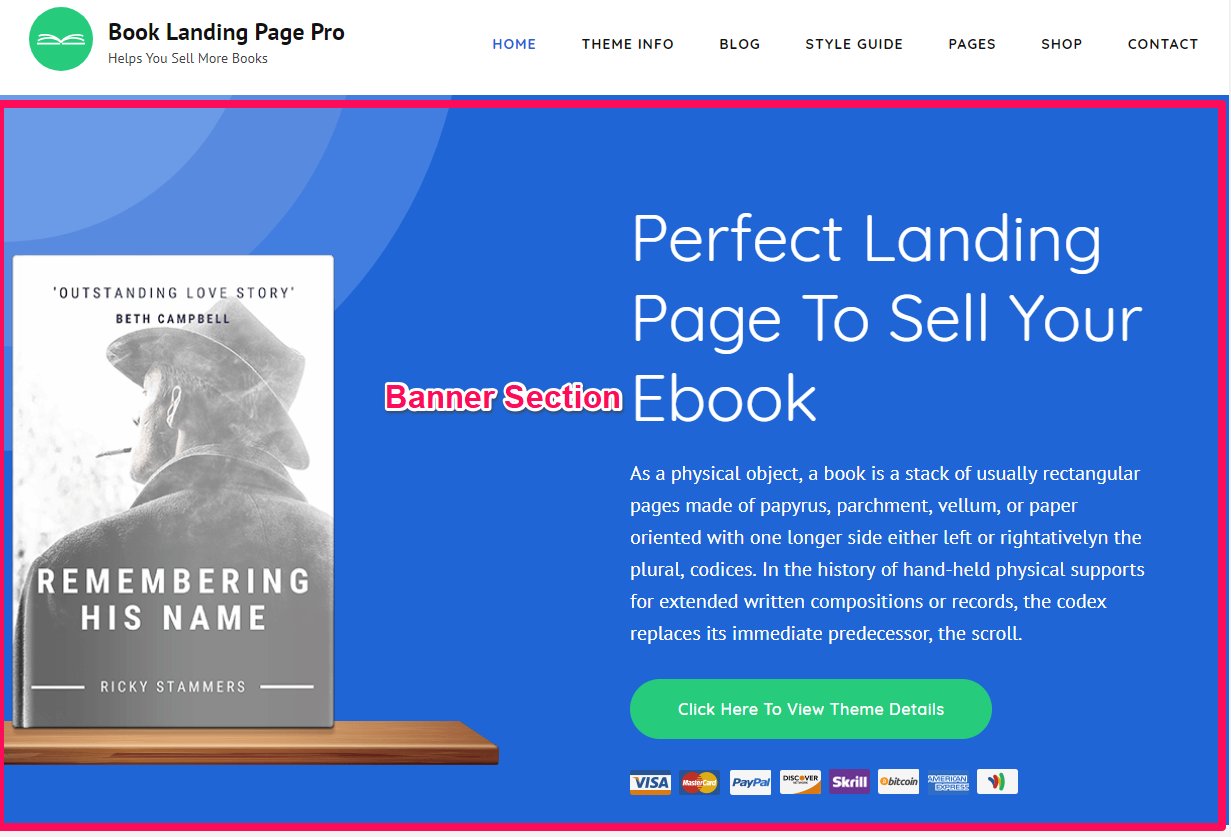 Book Landing Page Pro Documentation 23