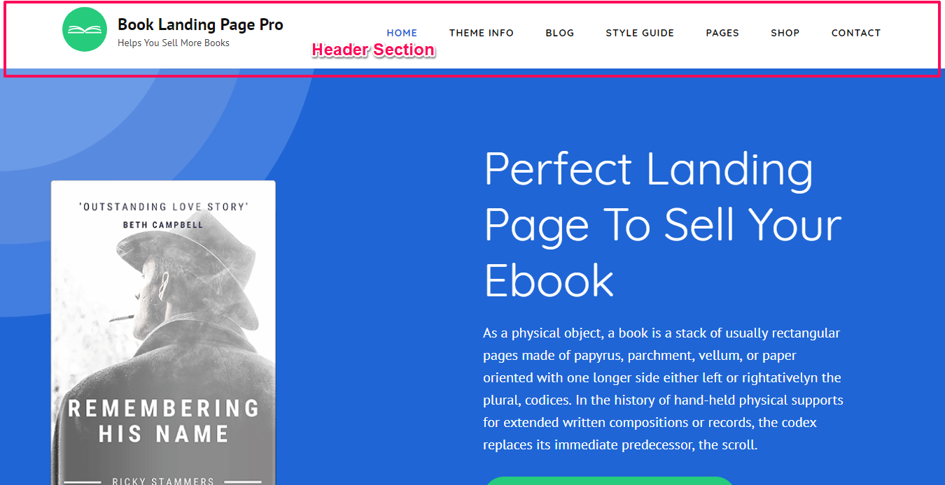 Book Landing Page Pro Documentation 58
