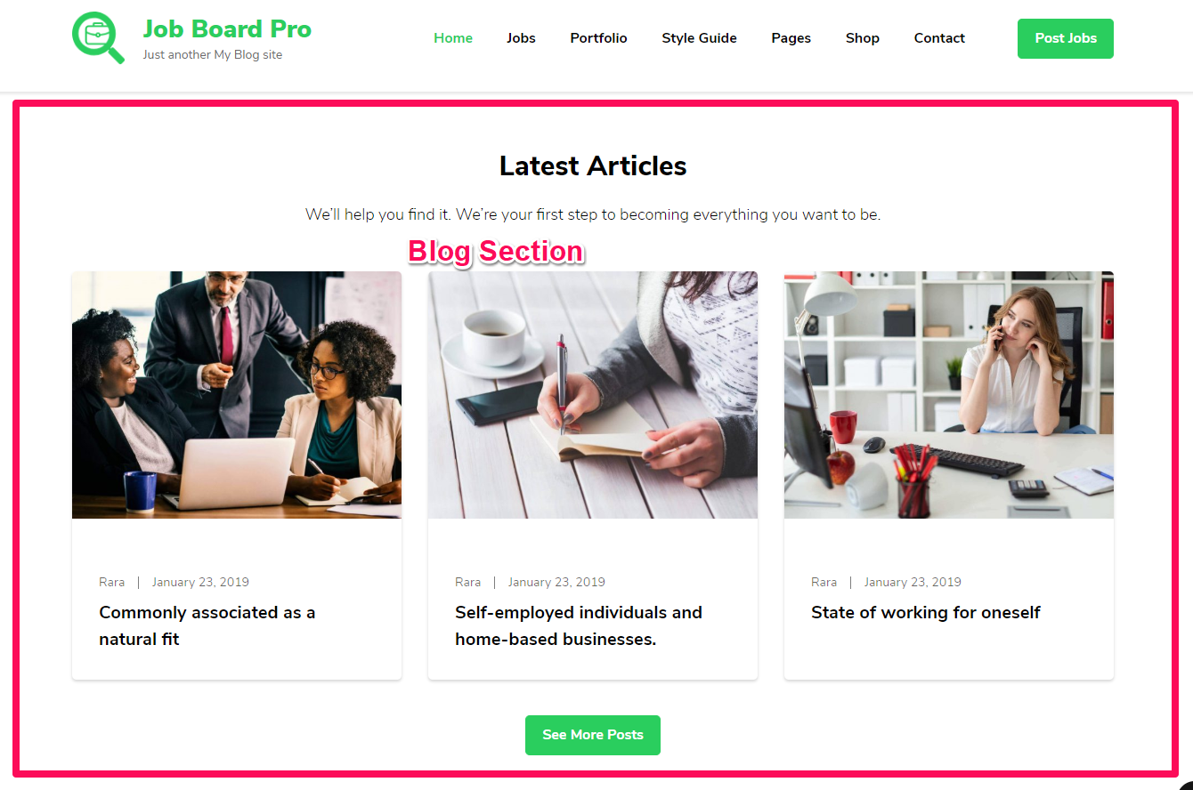 JobScout Free WordPress Theme Documentation 26