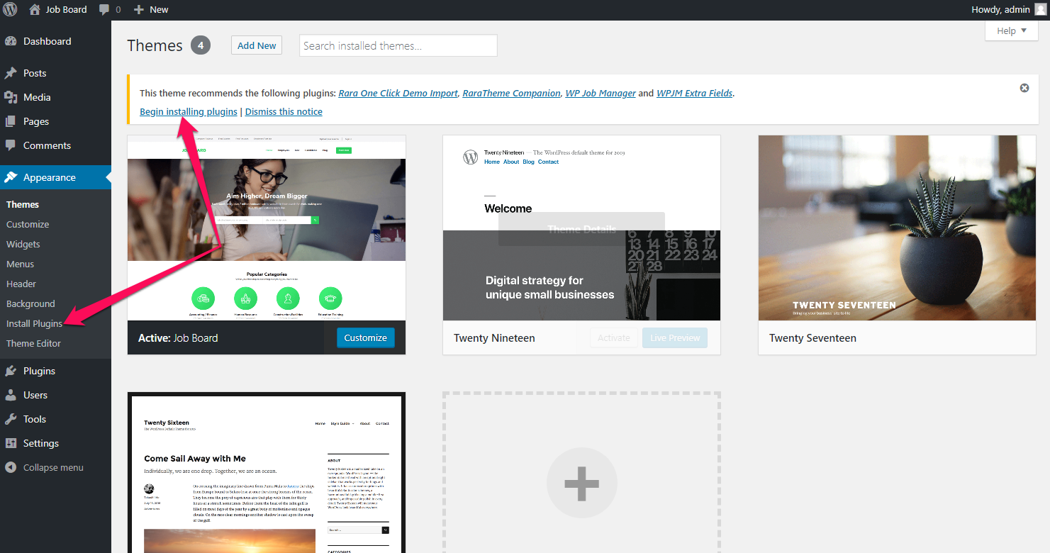JobScout Free WordPress Theme Documentation 8