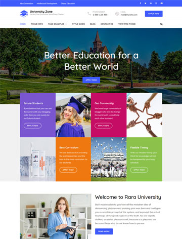 University Zone WordPress Theme