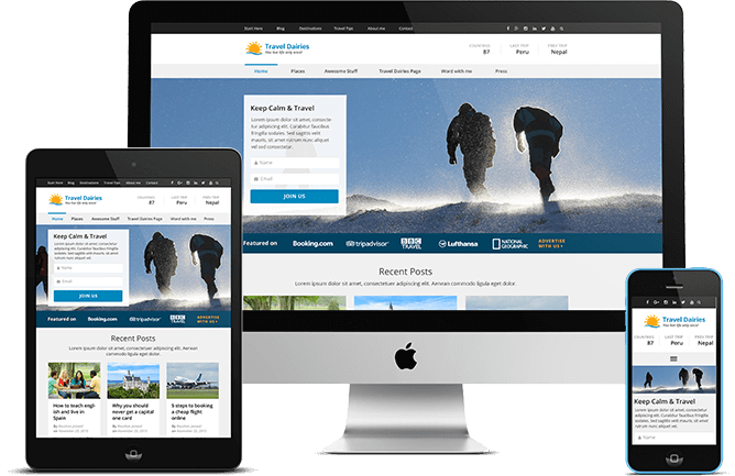 Travel Diaries Pro WordPress Theme responsive design