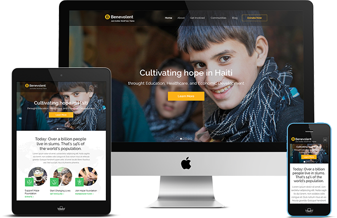 Benevolent Pro WordPress Theme responsive design