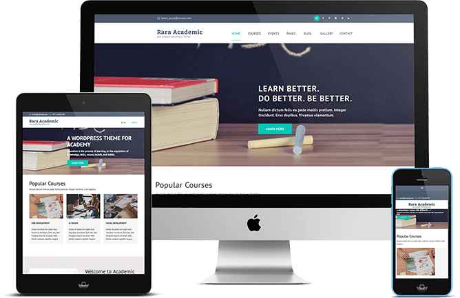 rara academic a free education wordpress theme for schools and