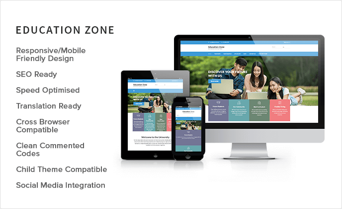 sales banner of Education Zone WordPress Theme