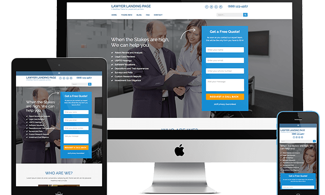 Lawyer Landing Page 1