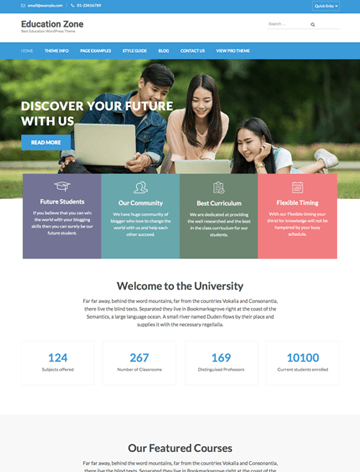 Education zone pro WordPress theme