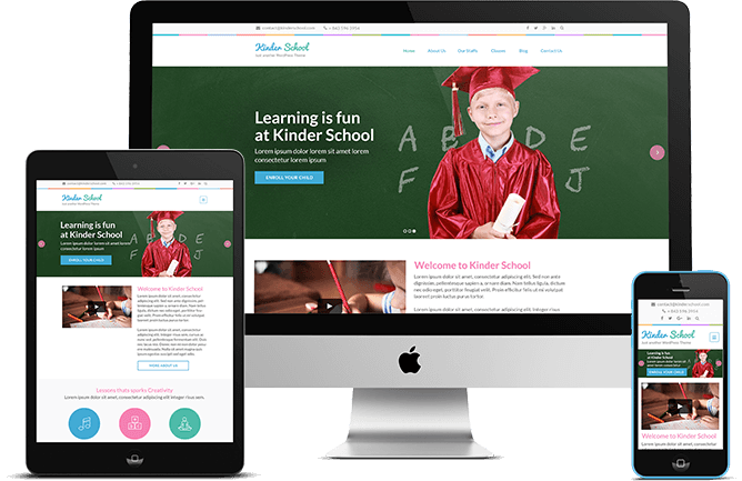 Preschool and Kindergarten WordPress Theme responsive design