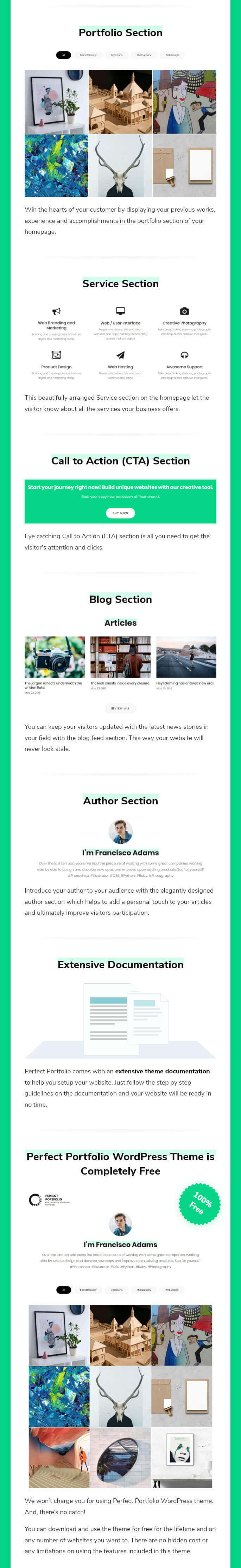 Free WordPress Portfolio Theme for Business and Personal Websites