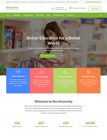 School Zone WordPress Theme