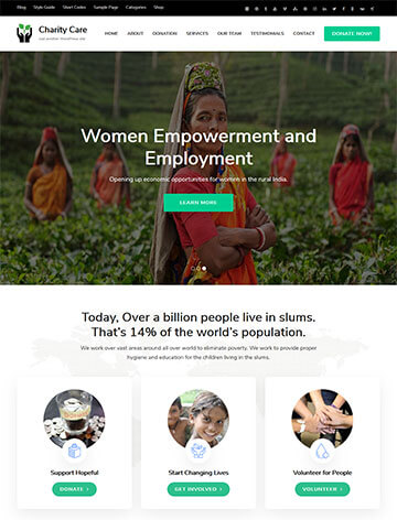 Charity Care WordPress Theme