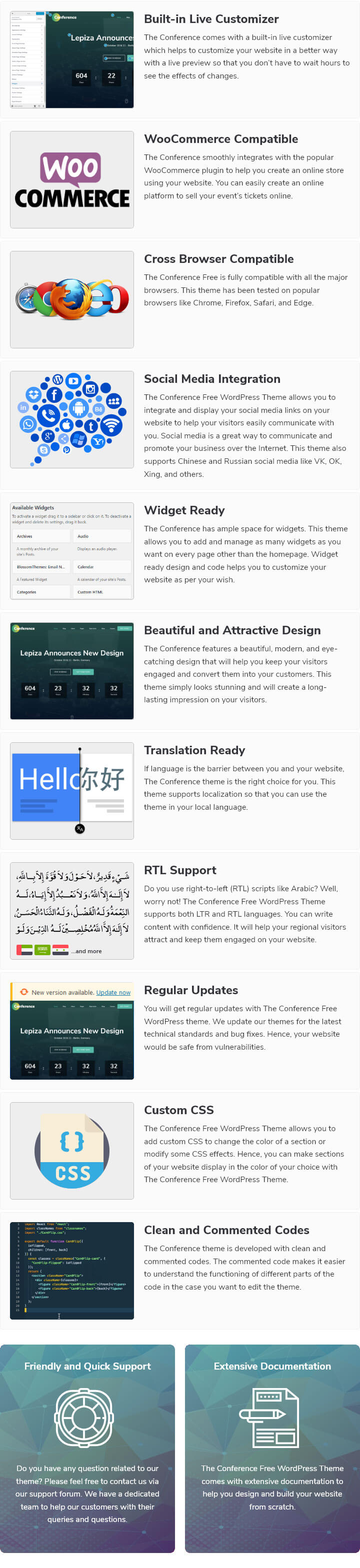The Conference WordPress Theme features