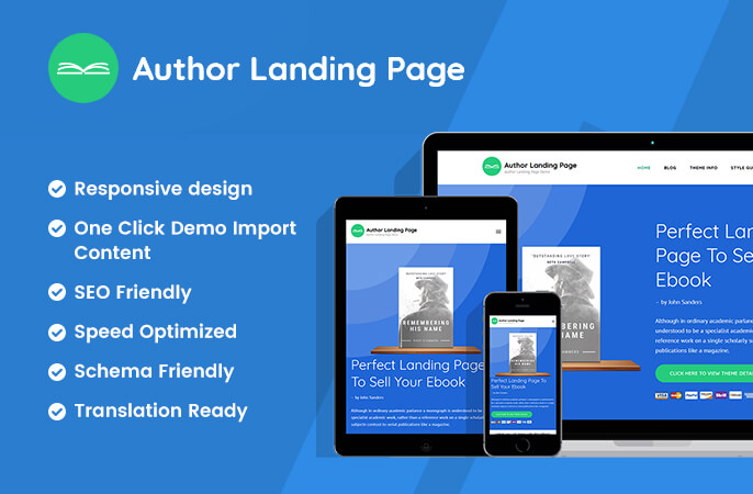 sale banner of Author Landing Page