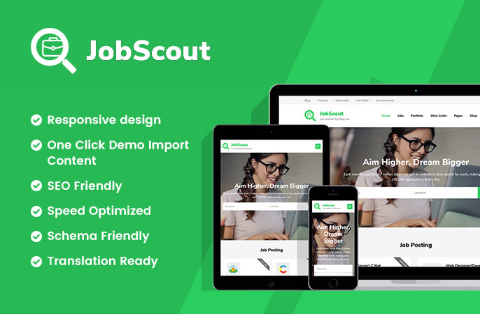 sales banner of JobScout WordPress Theme