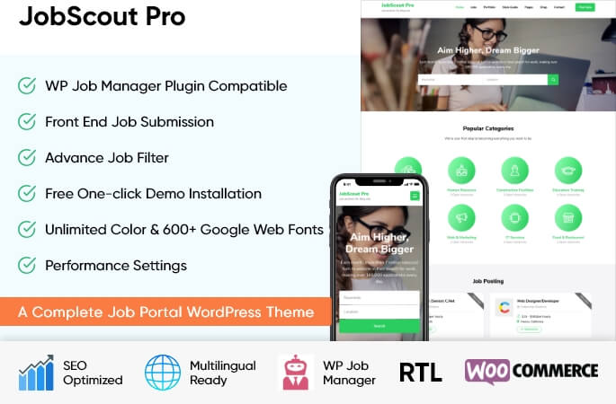 sales banner of JobScout Pro WordPress Theme