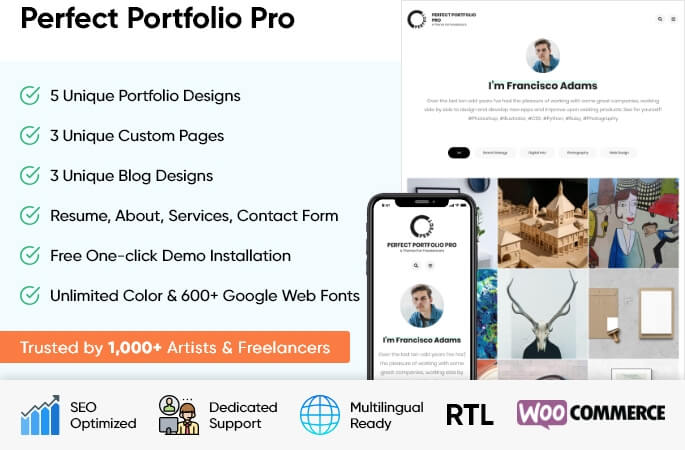 sales banner of Perfect Portfolio Pro WordPress Theme
