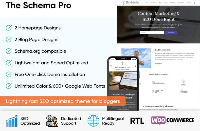 sales banner of the Schema Pro WordPress Theme
