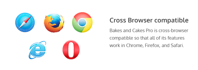 cross-browser compatibility of Bakes and cakes