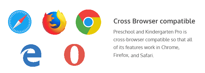 cross-browser compatibility of Preschool and kindergarten Pro