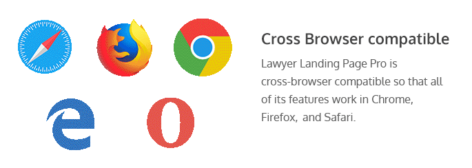 Features of Lawyer Landing Page Pro WordPress Theme
