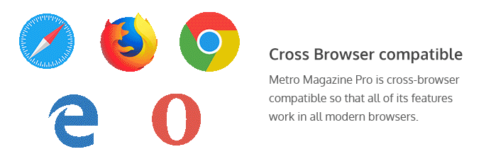 cross-browser compatibility of Metro Magazine Pro