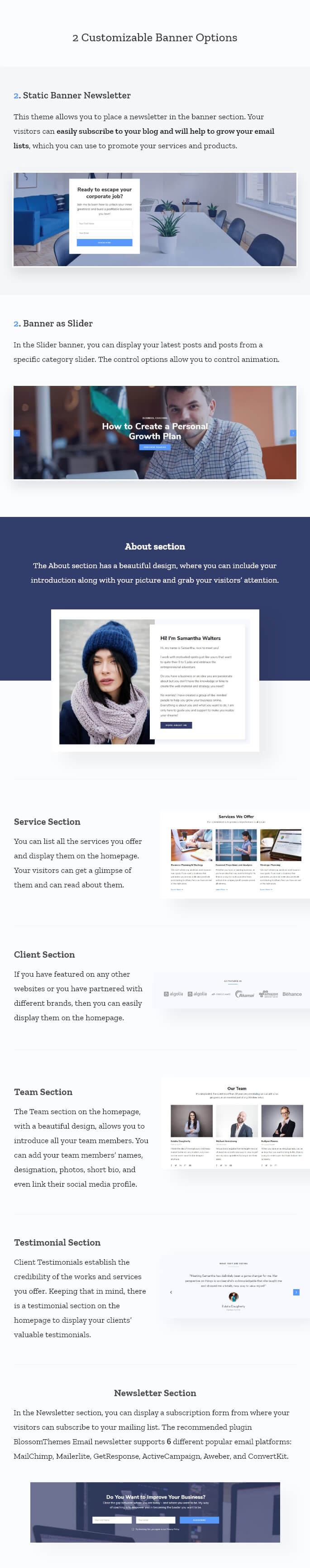 Features of Ridhi Pro WordPress