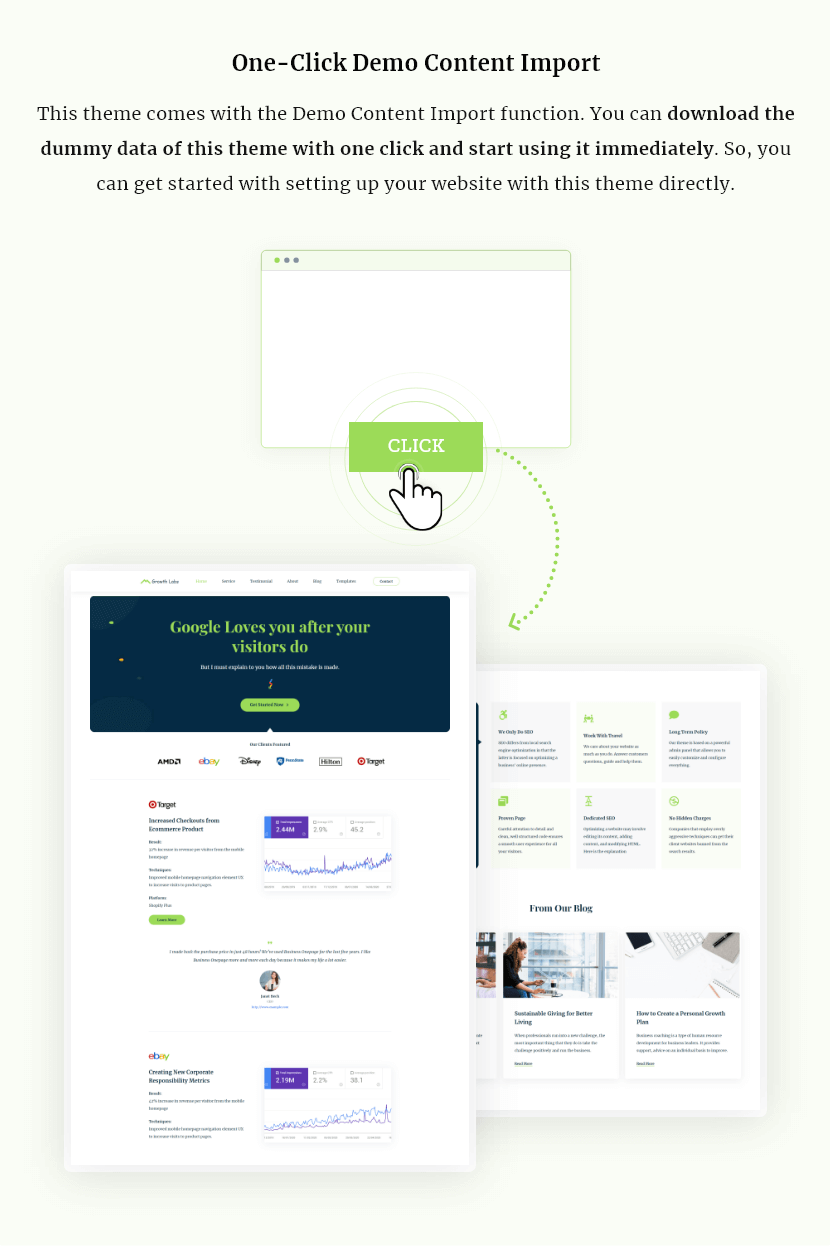 Growth Labs features