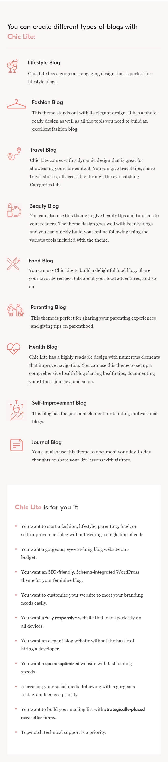 Chic Lite WordPress Theme - 2