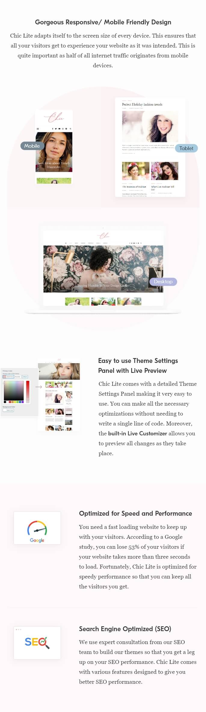 Chic Lite WordPress Theme - 4