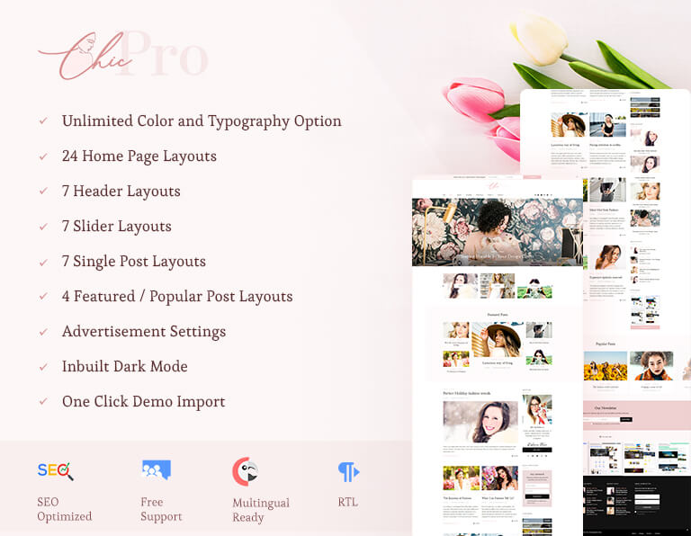 Chic-Pro WordPress Themes Sales Banner